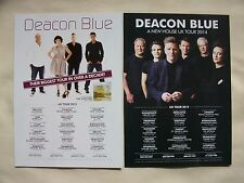 DEACON BLUE The Hipsters 2013 & A New House 2014 UK Tours Promo tour flyers x 2