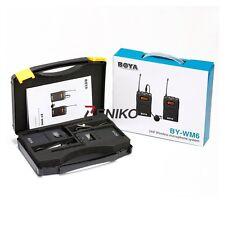 BOYA BY-WM6 UHF Omni-Directional Lavalier Wireless Microphone for Canon Nikon