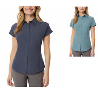 NEW 32 Degrees Cool Women's Stretch Travel Shirt - INDIA INK / SAGE