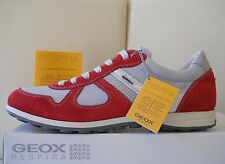Geox sneakers uomo U Xity A pelle/textyle Rosso/Grigio scarpe estive n44 Eu €129