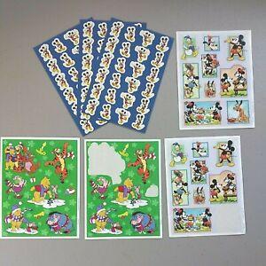 Lot of 7 Disney Hallmark Mickey Mouse Sticker Sheet Minnie Winnie the Pooh Tiger