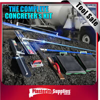 Concreters Tool Kit inc Bull Float Fresno Trowel Placer Ext Handle Edger Screed