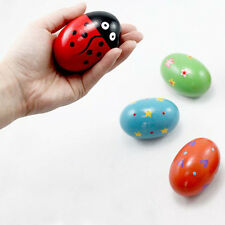 Wooden Egg Baby Music Shaker Percussion Toys Rattle Maracas