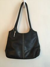 Fossil Black Leather Shoulderbag Tote Style Very Soft 75082 Handbag Excellent Co