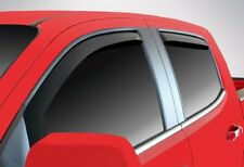 Fits Chevy Colorado Crew 2004-2012 AVS Tape On Chrome Window Visors Rain Guards