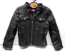 Black Faux Leather Boys Jacket Coat Size 4T Clothes