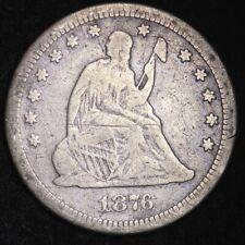 1876-CC Seated Liberty Quarter CHOICE FINE FREE SHIPPING E278 YNB