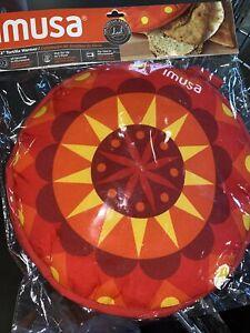 IMUSA USA MEXI-10007 Sunburst Cloth Tortilla Warmer, 12-Inch, Yellow/Red/Orange,