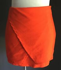 NWOT PAPER HEART Orange Sarong Look Mini Skirt Size 10