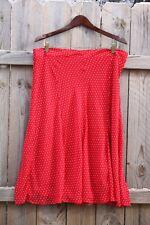 JACLYN SMITH Red Polka-dot Flare Skirt