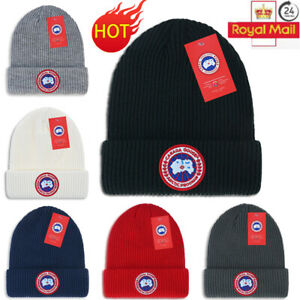CANADA GOOSE Men Women Winter Warm Black Arctic Disc Toque Beanie Hat Knit Cap
