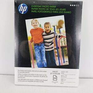 "HP Photo Quality Paper Matte Finish, 8.5"" x 11"", 100 Pack (C7007A) New!"