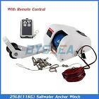 25 Lbs Boat Electric Anchor Winch With Remote Wireless Control Marine Saltwater