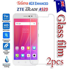 2X Telstra 4GX Enhanced /ZTE A520 Tempered Glass / Plastic Screen Protector Film
