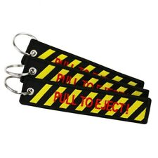 1pc Pull To Eject Embroidered Keychain Motorcycle Scooter Keyring Luggage Tag