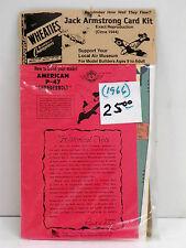 "GENERAL MILLS U/A ""AMERICAN P-47 THUNDERBOLT"" JACK ARMSTRONG CARD KIT/CIRCA 1944"