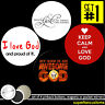 My God is Awesome 4 BUTTONS or MAGNETS or MIRRORS jesus bible religious #1474