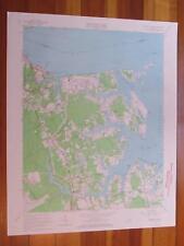 Poquoson West Virginia 1967 Original Vintage USGS Topo Map