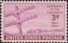 USA 1944 Telegraph 100th/Communications/Telecommunications/Telecomms 1v (us1000)