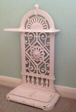 """Victorian Ornate Painted Cast Iron Stick, Umbrella Stand, Self Standing. 28.5"""""""