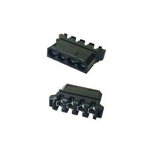 4 pin 90° 180° deg Female Molex Power Connector Black + 4 Female Pins MacroMods