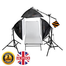 PIXAPRO EzyLite Three Head Boom Stand Kit (3x105) with 60x130cm Shooting Table