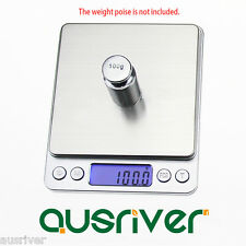 2000g/0.1g High Precision Pocket Scale Electronic Kitchen Scale LCD Display