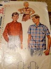 *LOVELY VTG 1950s BOYS SHIRT Sewing Pattern 10