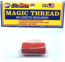 Atlas Magic Thread, Two 100-ft Spools, Orange, No Knots, Tie Bait Sacs #66013