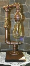Industrial  Steampunk style Pipe desk/table Lamp with Water Spigot/Edison bulb