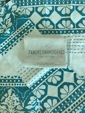 ANTHROPOLOGIE Enmore Embroidered King Shams Pillow Cases Cotton Tassels Boho