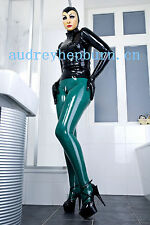100% Latex Rubber Gummi Ganzanzug Full-body Catsuit Bodysuits Suit XXS-XXL
