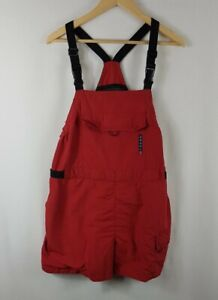 Orage Shorts Salopettes Large Size L Red Black Skiing Bib Nylon Snowboarding