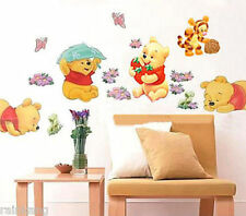 DIY Wall Stickers Winnie The Pooh  Nursery Boy kids Baby Room Art Home Decals De