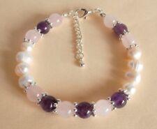 Gemstone Crystal Healing Hormone Balance PMS PMT Support Bracelet Gift Bag