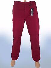 sisley uomo pantalone rosso scuro dritto taglia it 48 de 42 w 34 m medium cotone