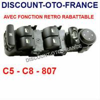 Interrupteur  bouton commande Leve vitre Peugeot 807