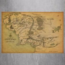 """Lord Of The Rings 14"""" x 20"""" The Realm Of Middle Earth Poster Lotr Art Wall Decor"""