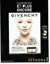 Publicité Advertising 127  2013  Givenchy maquillage fond teint Sephora