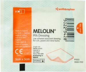 Melolin Low Adherent Wound Dressing 5cm x 5cm Sterile PFA Dressings First Aid