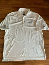 Reebok Playdry L White NHL Columbus Blue Jackets CBJ Hockey Polo