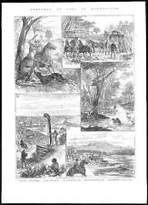 1884 AUSTRALIA Sketches of Life in QUEENSLAND Kangeroo Gold Mining (068)