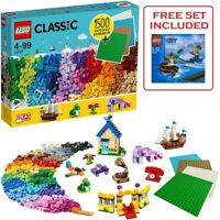 LEGO 11717 Classic Bricks Includes Blue Red Green Etc & 4 Plates + FREE Polybag