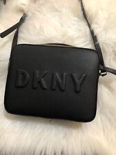 Dkny Tilly Debossed Logo Flap Crossbody Shoulder bag Quartz Nwot