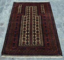 Y733 Vintage Afghan Prayer Rug Baluchi/ Handmade Tribal Jai Namaz Rug 3'1 x 4'9