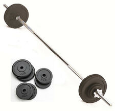 10kg Barbell Weight Set with 5ft Spinlock Barbell Bar & Weight Discs, Cast Iron