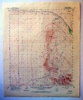 Red Hill Chocolate Mountains Castle Dome Plain Arizona California Vintage Original USGS Topo Map 1954 15-minute Topographic