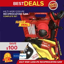 Hilti Wsr 1250 Pe Reciprocating Saw Free Blades Grinder Extras Fast Tship