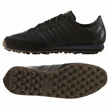 ADIDAS ORIGINALS NITE JOGGER MEN'S RUNNING SHOES SIZE US 8 BLACK LEATHER B24791