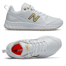 New Balance VELOv2 White Women's Fastpitch Softball Turf Trainer White/Gold